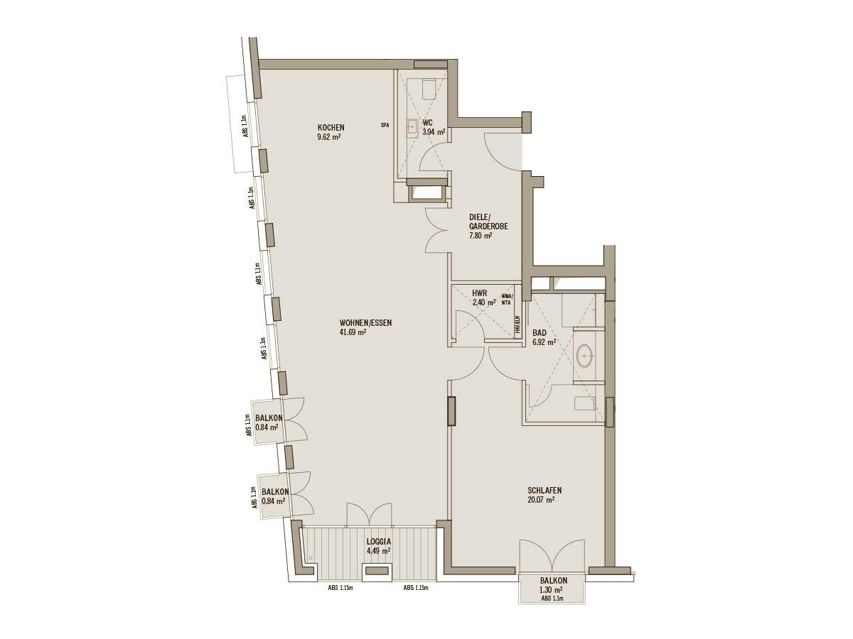 Grundriss Wohnung Frankonia Eurobau