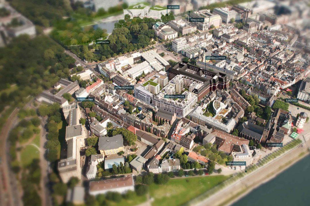 Renommierte Kultureinrichtungen, vom Museum K20 bis zur Tonhalle oder der Deutschen Oper am Rhein sind mit wenigen Schritten zu erreichen.